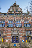 Facade of the kanselarij building in Leeuwarden