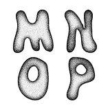 Vector doodle alphabet