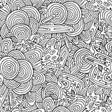 Seamless circles hand-drawn pattern.