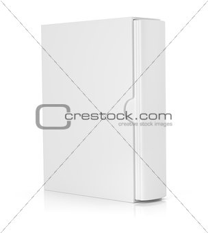 blank book in cardboard box cover on white