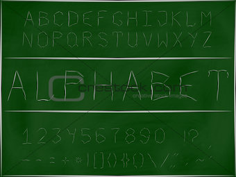 Font scratching on a blackboard