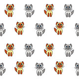 Seal point kittens seamless pattern.