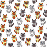 Many seal point kittens seamless pattern.