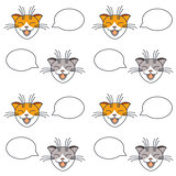 Talking cats seamless pattern.