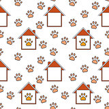 Home for pets seamless pattern.