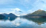 Lake Como (Italy) summer evening view,