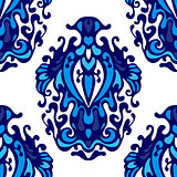 luxury seamless damask floral vector pattern for fabric