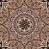 henna mandala seamless pattern