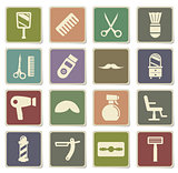 Barbershop simply icons