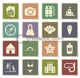 Beach simply icons