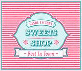 Vintage Sweets Shop Poster.
