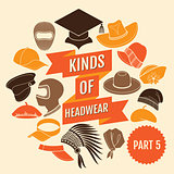 Kinds of headwear. Part 5.