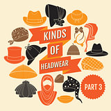 Kinds of headwear. Part 3.