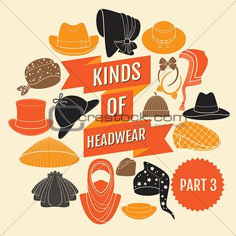 Kinds of headwear. Part 3.