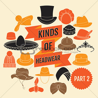 Kinds of headwear. Part 2.