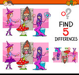 find the differences task