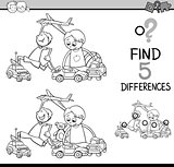 task of differences coloring book