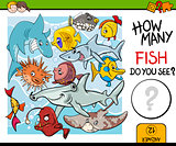 counting fish preschool task
