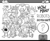 how many robots coloring page