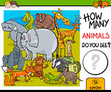 counting animals educational task