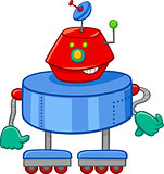 funny robot cartoon character
