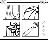 educational activity coloring book