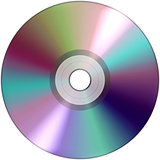 CD DVD  audio  video data rcording isolated over white background