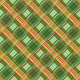 Seamless diagonal pattern in green and red