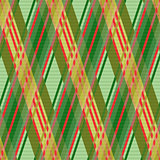 Seamless rhombic pattern in green and red