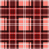 Seamless checkered pattern in red and white