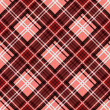 Seamless diagonal pattern in red and white