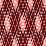 Seamless rhombic pattern in red and white