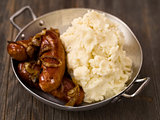 rustic english pub grub bangers and mash