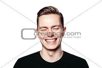 Portrait of young man smiling to camera