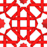 Red interwoven ribbons. Seamless pattern