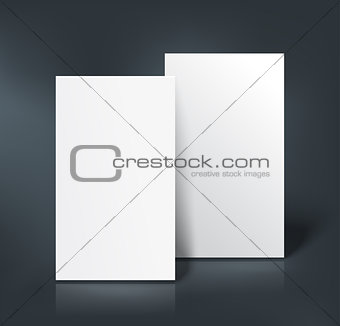 Business cards mockup. Vector illustration
