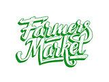 Farmers market hand lettering. Vintage poster