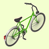 Bicycle Vector isometric illustration.
