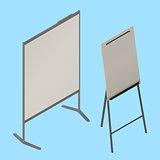 flip chart whiteboard isometric vector