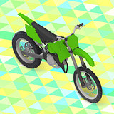 motorcycle isometric. cross motorbike vector
