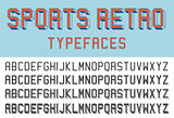 Sports retro typefaces