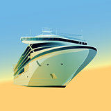 Ocean Liner Illustration