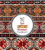 Seamless colorful pattern in aztec style