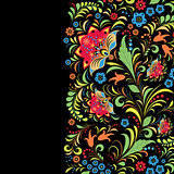 traditional russian floral  pattern