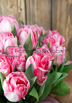 bouquet pink tulips