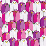 Cute seamless  floral pattern with tulips