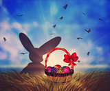 Easter Basket on Grass