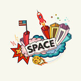 Space abstract illustration
