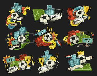 Football vector abstract
