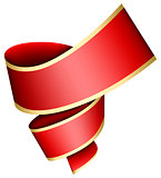 Swirl red ribbon